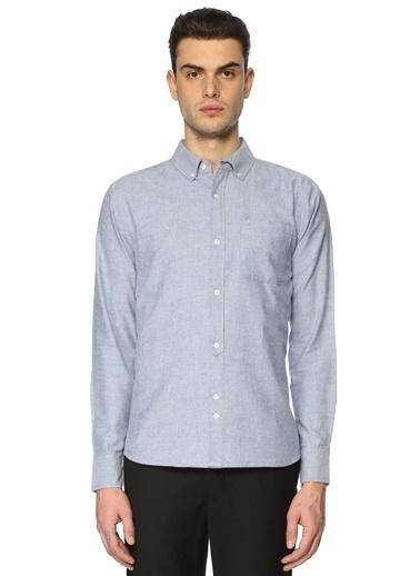 Bellfield Uzun Kollu Gömlek Mavi